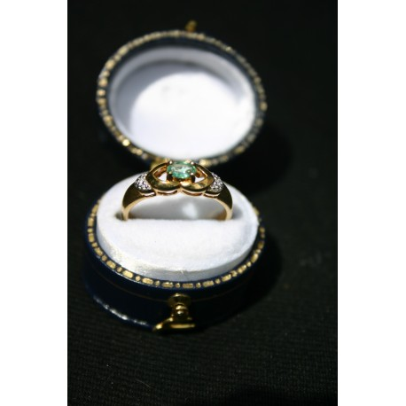 Vintage English gold with real Topaz, diamonds